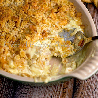 Creamy Chicken Ritz Casserole.