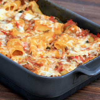 Rigatoni Bake with Ground Beef and Cheese Recipe