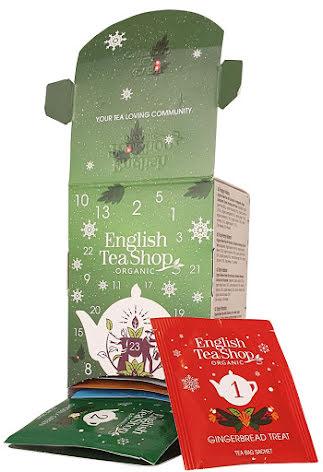 Ekologiskt te adventskalender i ask 2020 - English Tea Shop