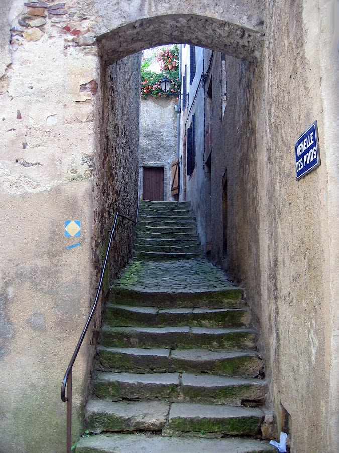 Way To Castle by Marco Bertamé - City,  Street & Park  Historic Districts ( , time scars )