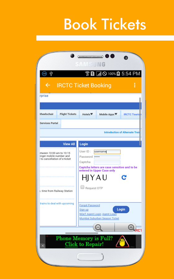mobile ticket booking irctc android apps on google play. Black Bedroom Furniture Sets. Home Design Ideas
