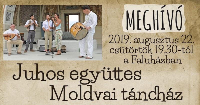 Szabadegyetem Bárdudvarnokon 2019 augusztus 22. este Moldvai Táncház a Juhos együttessel