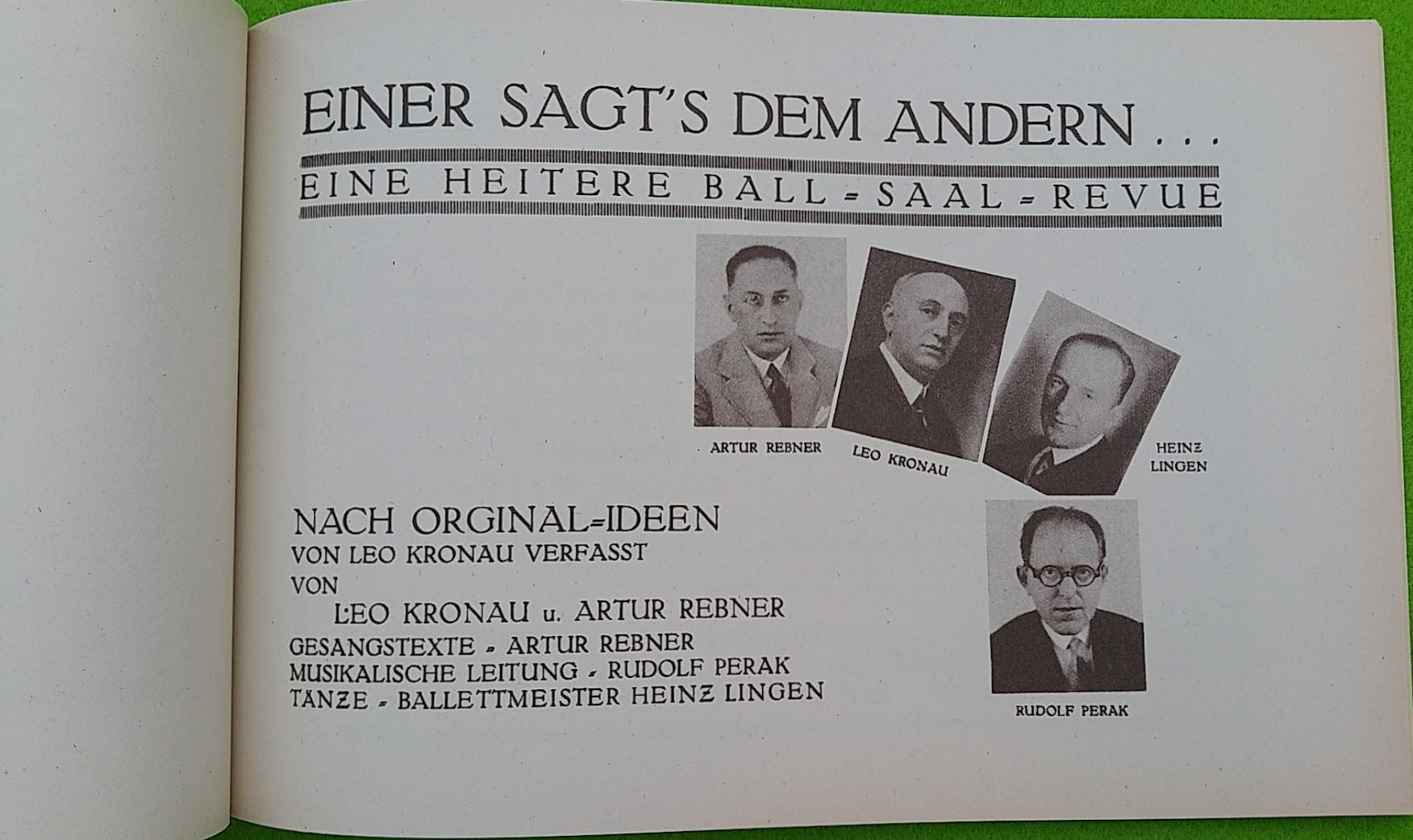 Begleitheft zur Eröffnung von Haus Vaterland am Potsdamer Platz, Berlin, 31. August 1928 - Ball-Saal-Revue