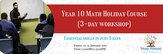 Year 10 Math Holiday Course (3-day workshop)