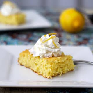 3 Ingredient Lemon Cake.
