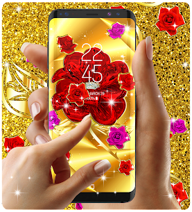 Gold rose live wallpaper Apk Download For Android 7