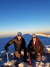Photo: Me and Dad on the True Summit in the Mountain Shadow
