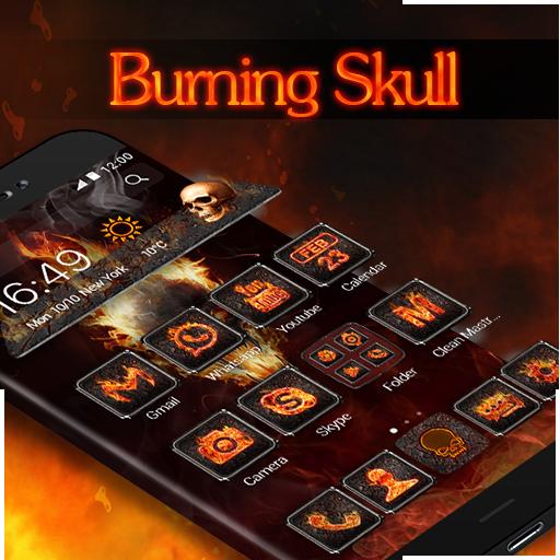 Hell Burning Skeleton - Theme - Apps on Google Play