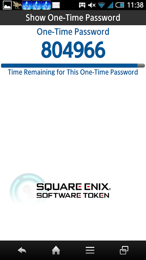 SQUARE ENIX Software Token- screenshot