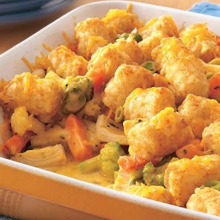 Cheesy Tater-Topped Chicken Casserole.