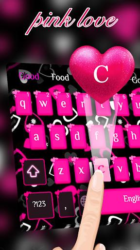 Pink girl love keyboard screenshot