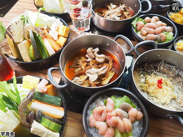 宇良食鍋物,少見麻油雞弗鍋底新上市,蒜味鱻魚湯煮爆蝦鱻味一級棒!(沙鹿美食/台中麻油鍋/試吃)