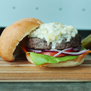 Green Chili Cheese Rotisserie Burgers