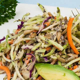 Broccoli Salad with Chia and Hemp Seeds.