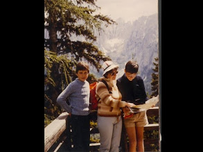 Photo: With my brother and mum, Dolomiti (Italy), 1984