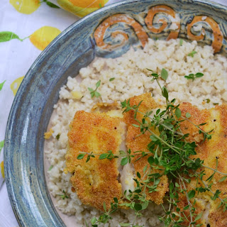 Cornmeal Crusted Cod with Buttermilk Cauliflower Rice – #FishFoodieFridays
