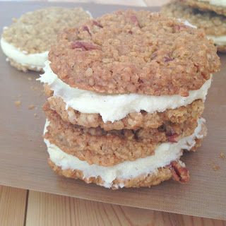 Oatmeal Sandwich Cookies with Vanilla Creme Frosting Recipe