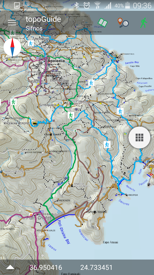 Sifnos Trails topoGuide- screenshot