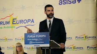 Ramón Fernández-Pacheco, durante la conferencia.