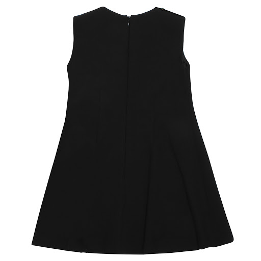 Thumbnail images of Young Versace Black Sleeveless Button Dress