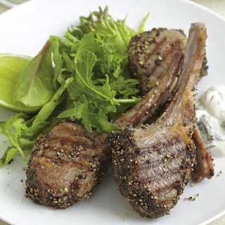 Pepper-Crusted Lamb with Mint Yogurt