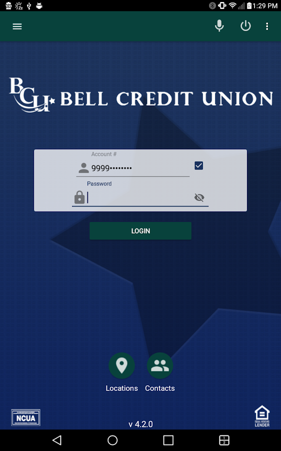Bell Credit Union Mobile Banking- screenshot