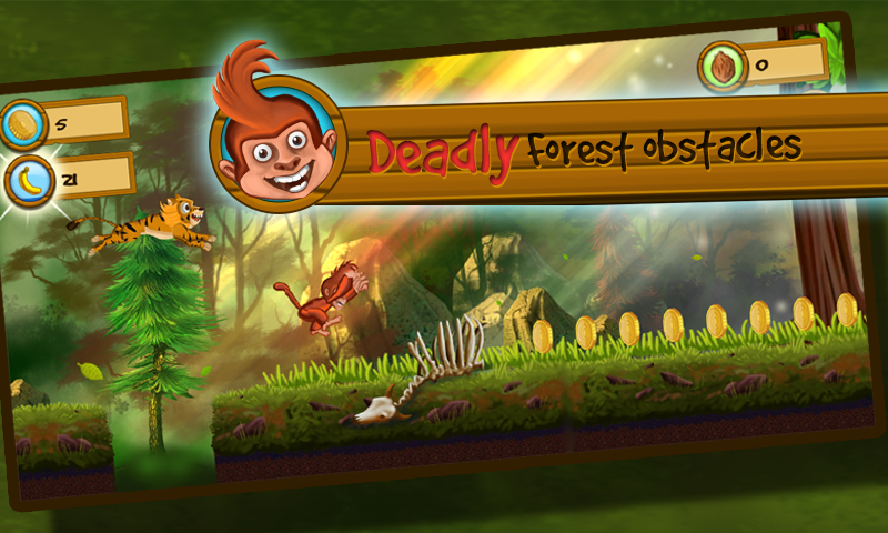 Screenshots of Monkey Vs Tigers for iPhone