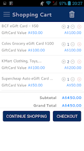 Easyshoppingcards- screenshot thumbnail