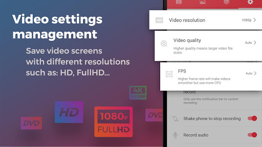 Screen Recorder With Audio And Editor & Screenshot game (apk) free download for Android/PC/Windows screenshot