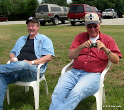Photo: Terry Saxon, a visiting narrow gauge modeler from Colorado and David Hannah. HALS 2012-0818 Rick White Photo