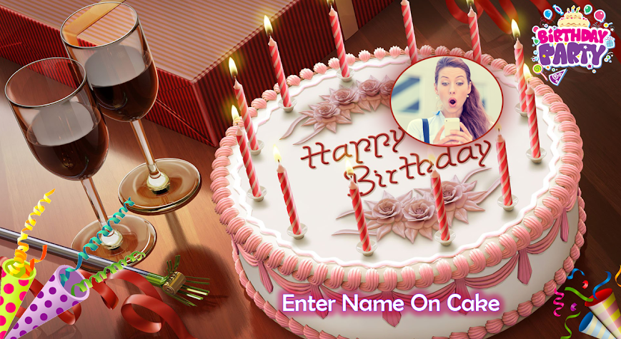 Name Photo On Birthday Cake Screenshot
