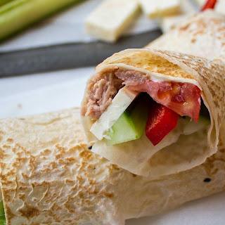 tuna Greek salad wraps.