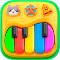 Piano for babies and kids icon