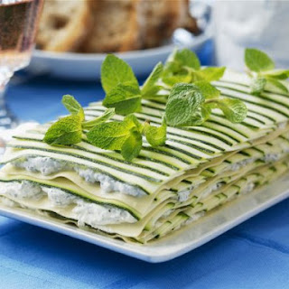 Layered Courgette and Cream Cheese Lasagne
