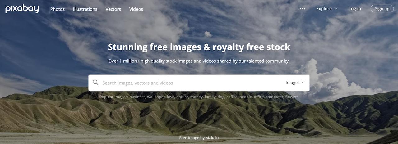 Inicio de sesión de Pixabay