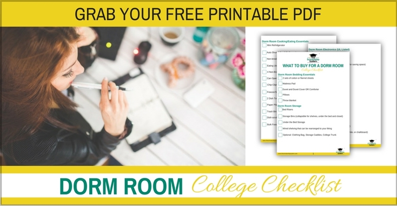 Download free college dorm room checklist