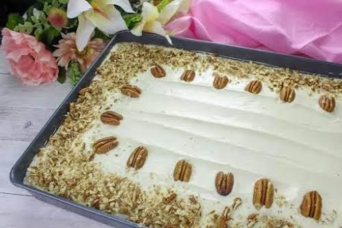 """Hummingbird Cake """"This hummingbird cake uses a cake mix as its base..."""