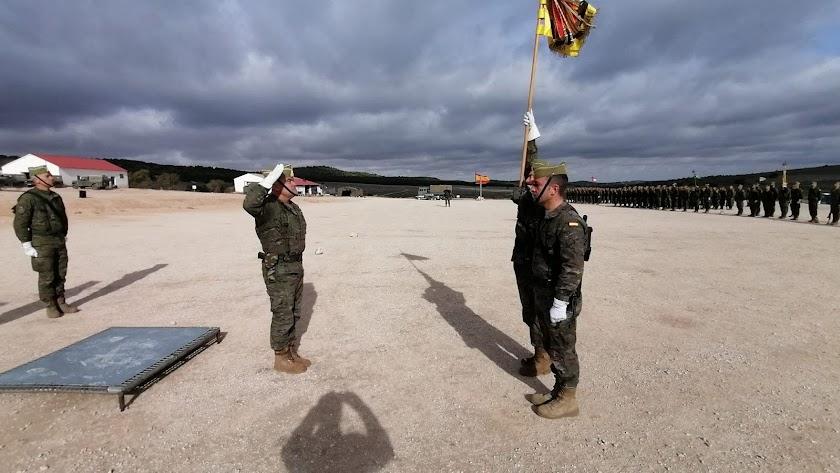 El coronel Luis Cepeda se despide en Chinchilla (Albacete).
