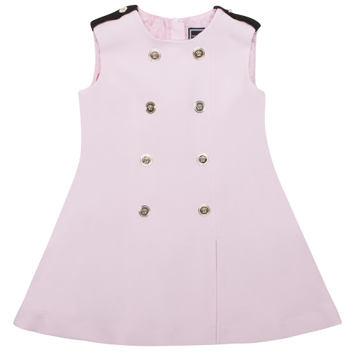 Primary image of Young Versace Pink Sleeveless Button Dress