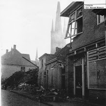 Photo: 1944 Doelentraat in de laatste nacht voor de bevrijding nog zwaar getroffen door een bominslag...