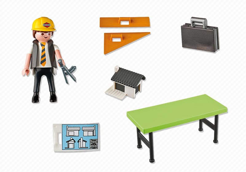 Contenido real de Playmobil® 5294 Arquitecto con Mesa de Trabajo