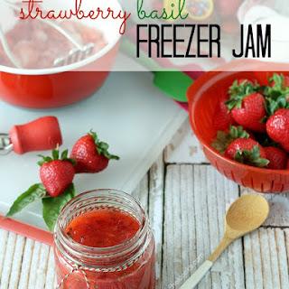 Strawberry Basil Freezer Jam