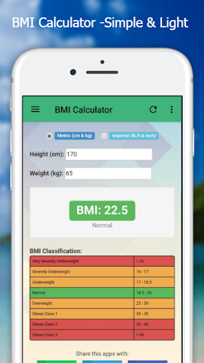 BMI Calculator - Easy & Simple screenshot 1
