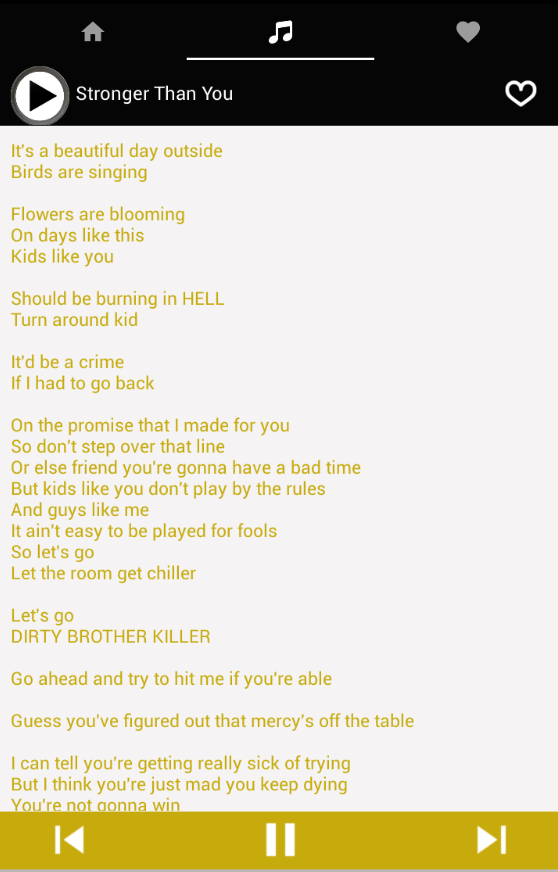 Sans Music Lyrics Undertale- screenshot