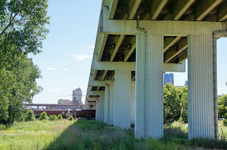 Photo: The entrance to the Bruce Vento Nature Sanctuary is under Kellogg Boulevard Bridge, just east of downtown St. Paul.