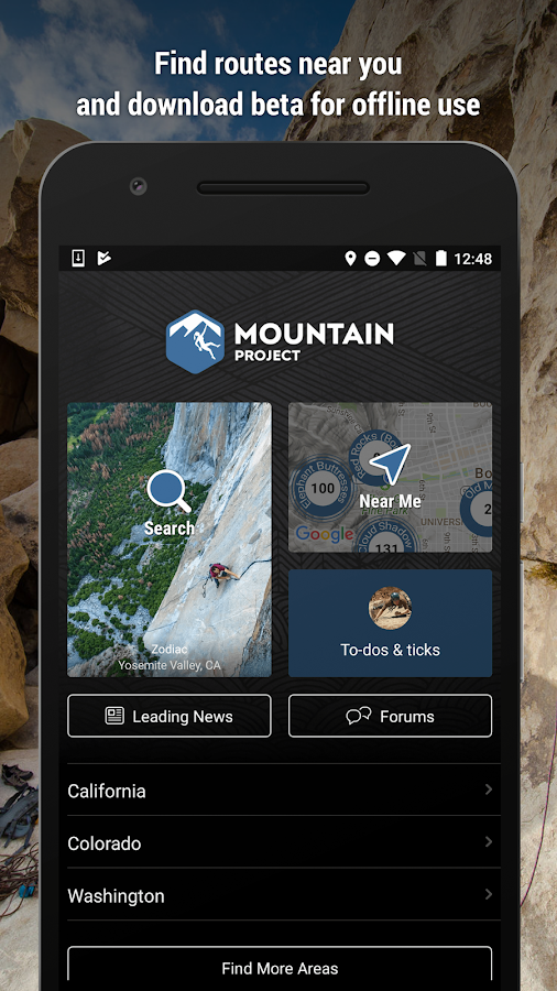 Mountain Project- screenshot