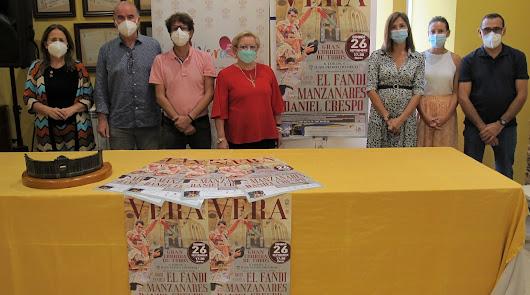 Vera presenta su cartel para la corrida de toros de la Feria de San Cleofás