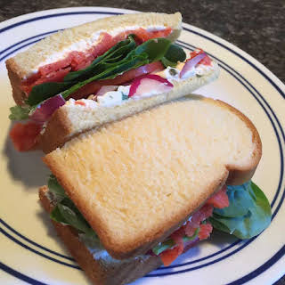 Salmon Lox Sandwich.