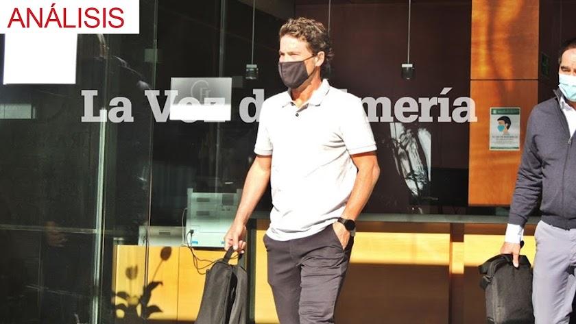 Rubi, a su llegada a Almería como nuevo técnico rojiblanco.