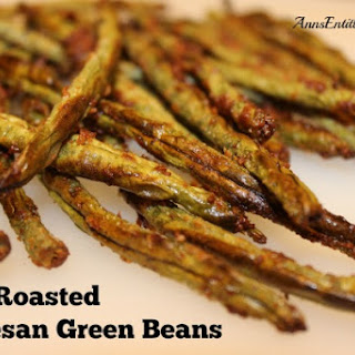 Oven Roasted Parmesan Green Beans.